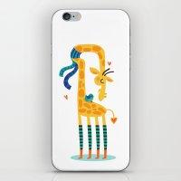 The Bird And The Giraffe iPhone & iPod Skin