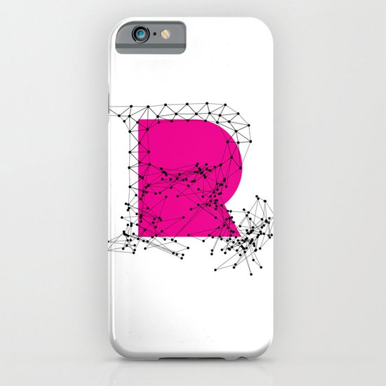R (abstract geometrical type) iPhone & iPod Case