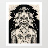 Weeping Demon Art Print