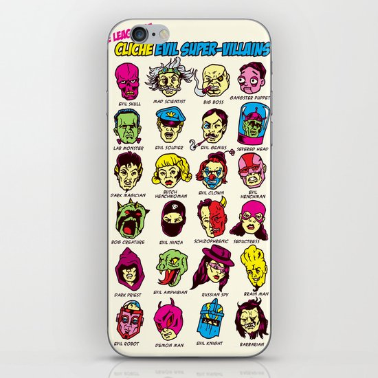 The League of Cliché Evil Super-Villains iPhone & iPod Skin