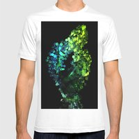 Cellular Automata Mens Fitted Tee White SMALL
