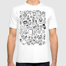 Comic Sans SMALL White Mens Fitted Tee