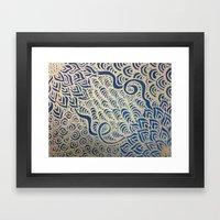 Dual Blooms Framed Art Print