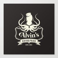 Alvin's Seafood Palace -… Canvas Print