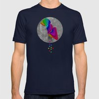Over the rainbow Mens Fitted Tee Navy SMALL