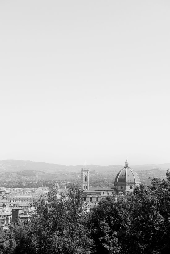 Black & White Duomo Art Print