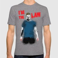 I'm the Law Mens Fitted Tee Tri-Grey SMALL