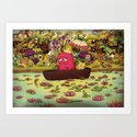 Borish Sailing at Lotus River Art Print
