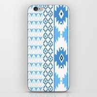 Navajo Glam _ Blue iPhone & iPod Skin