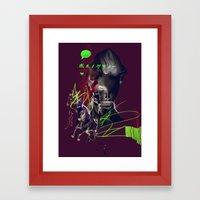 Running with horses Framed Art Print