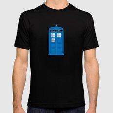 DOCTOR WHO. Mens Fitted Tee SMALL Black