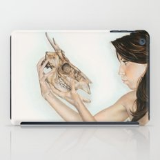 Confrontation, animal skull and human iPad Case