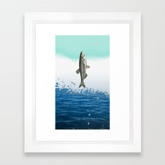 little fish big fish Framed Art Print