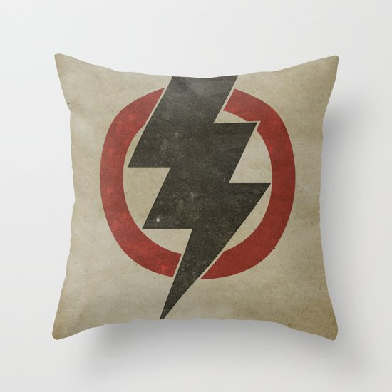 lightning strike zone Throw Pillow