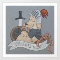 Sir Eats-A-Lot Art Print