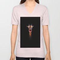 Animal Portraits - Giraffe Unisex V-Neck