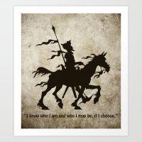 Don Quixote - Digital Work Art Print