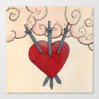 Tarot - 3 of Swords Canvas Print