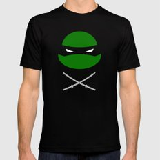 TMNT Leo poster Black SMALL Mens Fitted Tee