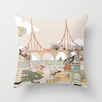 City Of Animamaly Throw Pillow