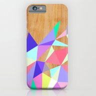 iPhone & iPod Case featuring Wooden Geo Pastel by Jenny Mhairi