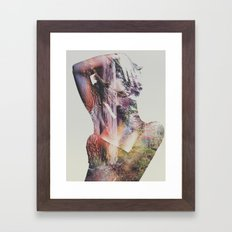 Wilderness Heart Framed Art Print