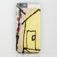 iPhone & iPod Case featuring Embroidered Beach huts by Lizzie Searle