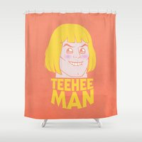 TEE HEE MAN Shower Curtain