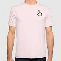 Bunny Mens Fitted Tee Light Pink SMALL