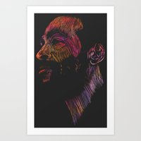 Marvin Gaye Color Versio… Art Print