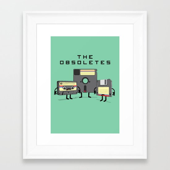 The Obsoletes (Retro Floppy Disk Cassette Tape)  Framed Art Print