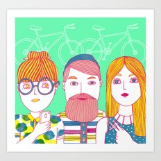 Hipsters Art Print