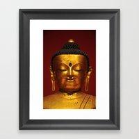 Golden Buddha - serenity - Asian Art Museum San Francisco Framed Art Print
