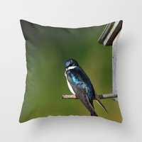 Barn Swallow Throw Pillow