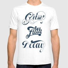 Grimey Type. Mens Fitted Tee White SMALL