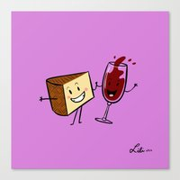 Manchego & Red Wine Canvas Print