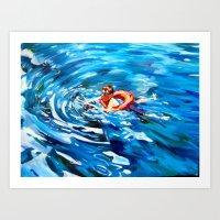 Still Swimmin' Art Print
