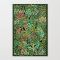 April Leaves Canvas Print
