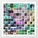 Colorful 3D Cubes 1 Art Print