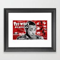 Pee-wee's big adventure Framed Art Print