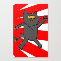 Ninja Kitty Canvas Print