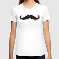 mustache T-shirts featuring Mustache by Macrobioticos