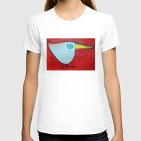 Birdy Blue Womens Fitted Tee White SMALL
