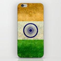 Flag of India - Retro Style Vintage version iPhone & iPod Skin