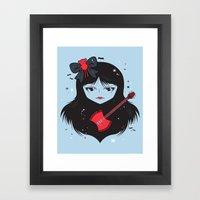 Kawaii Vampire Framed Art Print