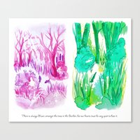 Sound Of The Forest Canvas Print
