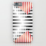 iPhone & iPod Case featuring Red, Black & White by HK Chik
