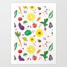 Delicious Vegetables Art Print