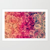 roses Art Prints featuring Roses by Msimioni
