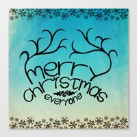 merry christmas everyone Canvas Print